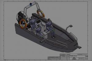 Łódź pem motoboat